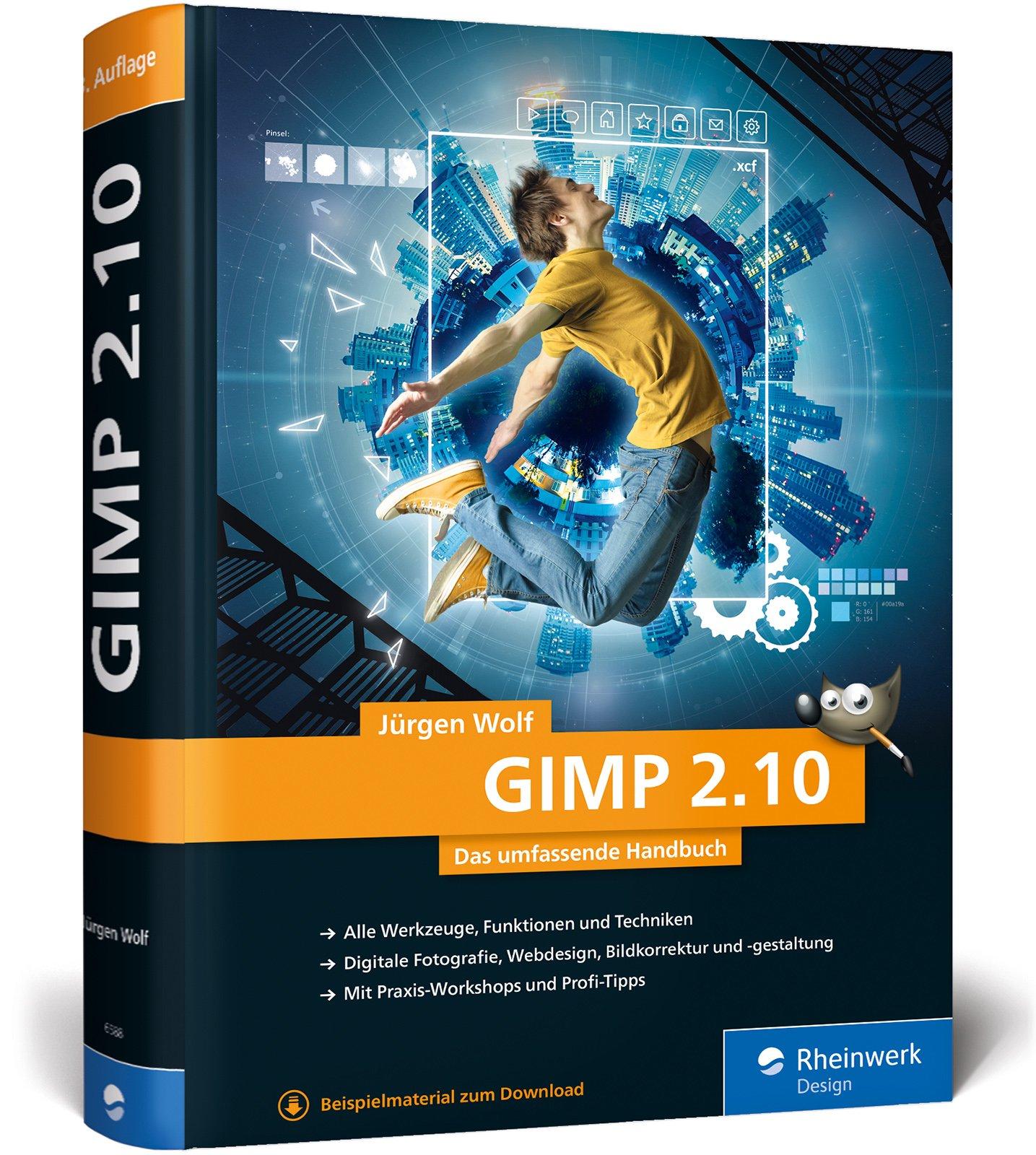 GIMP 2.10: Das umfassende Handbuch Gebundenes Buch – 25. Januar 2019 Jürgen Wolf Rheinwerk Design 3836265885 Anwendungs-Software