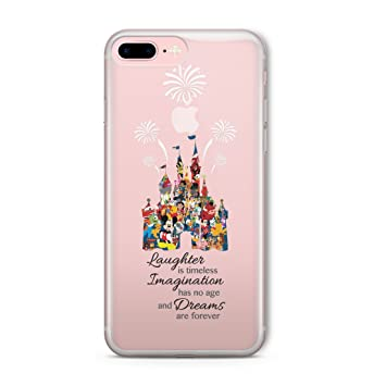 new concept 8c9ee 37c52 Cartoon Movie Character Fan Art CLEAR Hybrid Cover Case for Disney  Castle-iPhone 6 (4.7