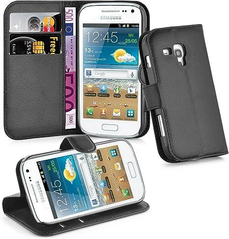 Cadorabo Funda Libro para Samsung Galaxy Trend Plus en Negro ...
