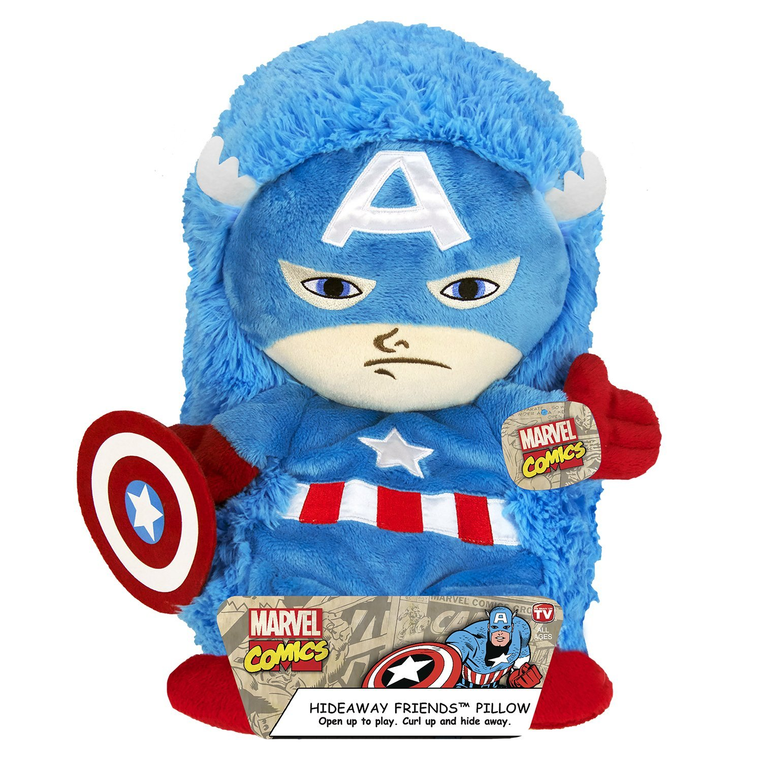 Amazon Marvel Captain America Plush Hideaway Character Pillow