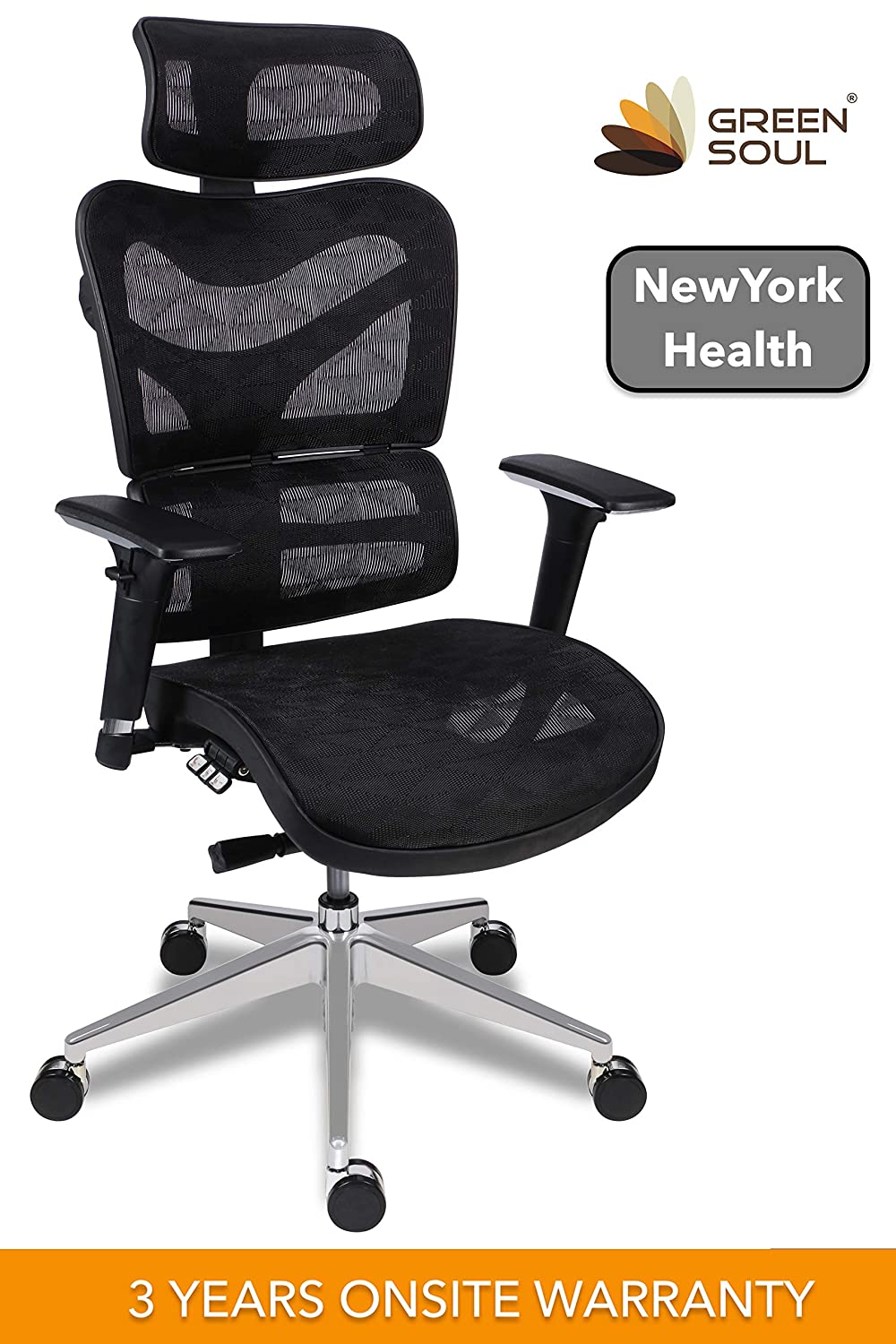 Green Soul New York Health Mesh High Back Office Chair