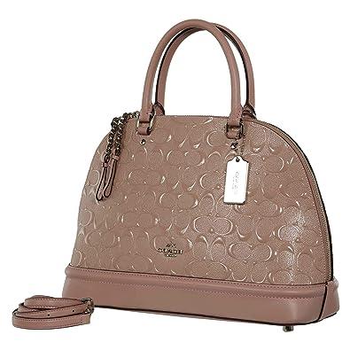 3d0b6e283f9d COACH SIGNATURE SIERRA SATCHEL HANDBAG DEBOSSED PATENT LEATHER BLUSH  F27598  Amazon.co.uk  Shoes   Bags