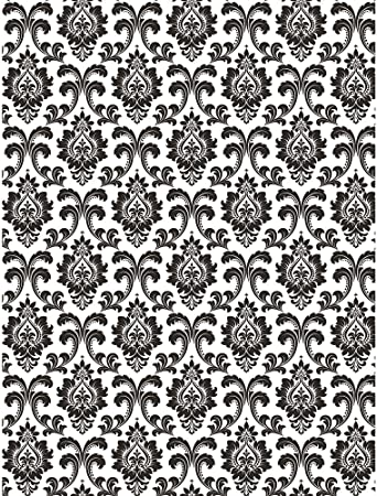 Grey and White 10x15 FT Photo Backdrops,Middle Mosaic Antique Pattern Victorian Baroque Damask Influences Background for Kid Baby Boy Girl Artistic Portrait Photo Shoot Studio Props Video Drape Vinyl