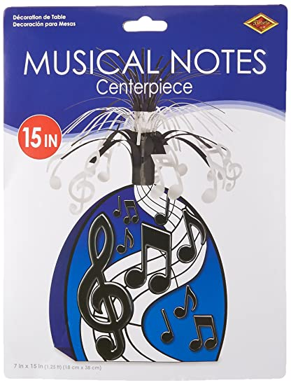 Swell Musical Notes Centerpiece Black Silver Party Accessory 1 Count 1 Pkg Interior Design Ideas Ghosoteloinfo