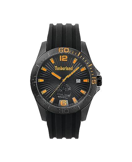 Timberland Reloj Análogo clásico para Hombre de Cuarzo con Correa en Silicona TBL.15352JSB/02P: Amazon.es: Relojes