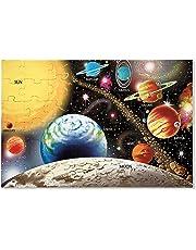 Melissa & Doug Solar System Floor Puzzle, Floor Puzzles, Easy-Clean Surface, Promotes Hand-Eye Coordination, 48 Pieces, 91.44 cm L x 60.96 cm W