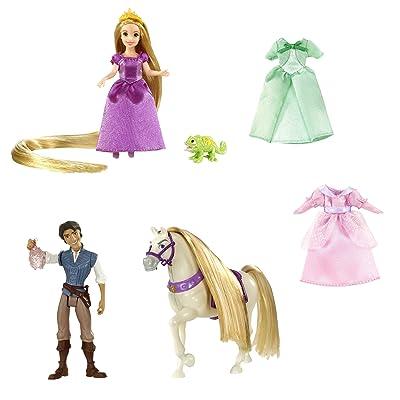 Disney Princesses - T7566 - Accesoire - Poupée et Mini Poupée - Coffret Raiponce