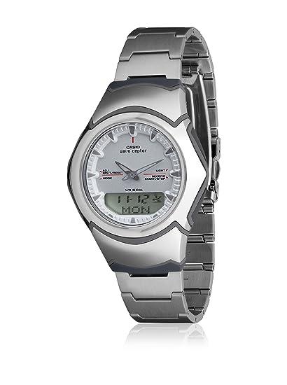 CASIO 19712 WVA-104HDE-7A - Reloj Caballero Cuarzo Brazalete metálico dial Gris: Amazon.es: Relojes