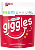 YumEarth Organic Giggles Chewy Candy, Fruit Flavored, 10 Snack Packs per bag - Allergy Friendly, Non GMO, Gluten Free…