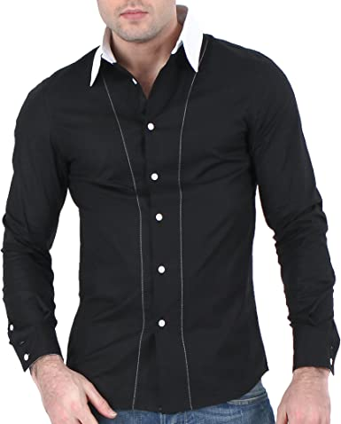 Nuevo Mens Casual Dress camisas Slim fit XJ10 Colletion …