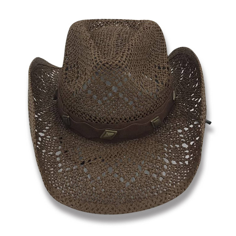 AccessHeadwear Old Stone Lacey Women's Cowboy Drifter Style Hat, Brown
