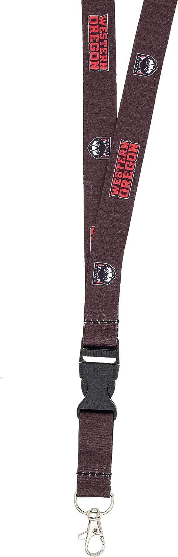 Western Oregon University WOU Wolves NCAA Car Keys ID Badge Holder Lanyard Keychain Detachable Breakaway Snap Buckle