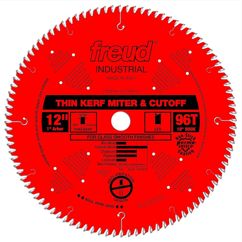 Freud 12 x 96T Thin Kerf Ultimate Cut-Off Blade LU74R012