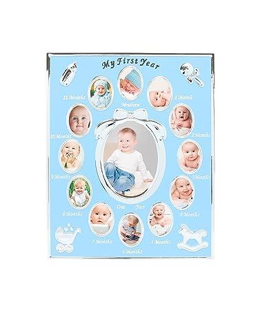 Amazon.com : Tiny Ideas Baby\'s First Year Keepsake Picture Photo ...