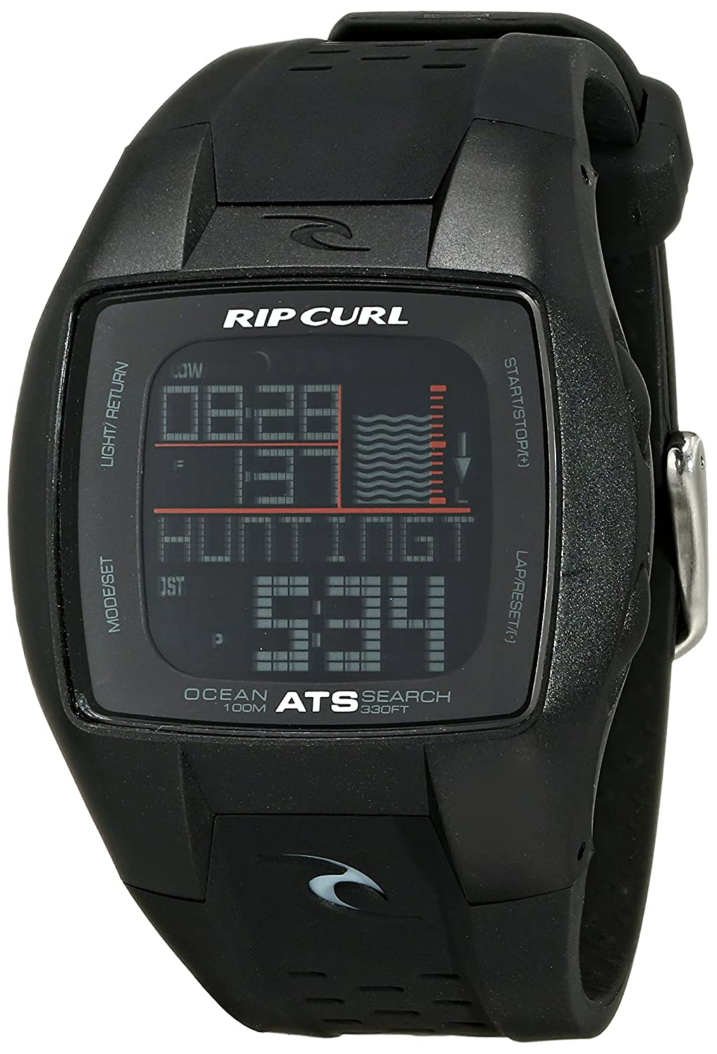 593cae047fb Rip Curl Men s A1015-MID Trestles Oceansearch Midnight Black Tide Watch   Amazon.co