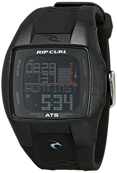 Rip Curl A1015-MID - Reloj de Pulsera Hombre, Poliuretano, Color Negro: Amazon.es: Relojes