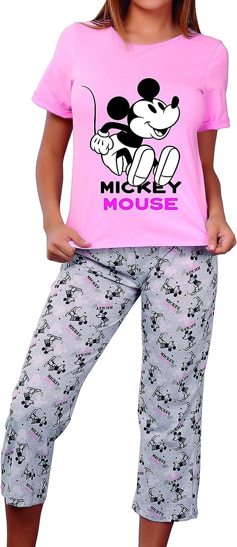 9269 Pijama Para Mujer Disney Mickey Mouse Blusa Y Pantalon Dama Gde Amazon Com Mx Ropa Zapatos Y Accesorios