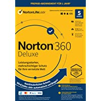 Norton 360 Deluxe 2021   5 Devices   1 Year Subscription with Automatic Extension   Secure VPN and Password Manager   PC…