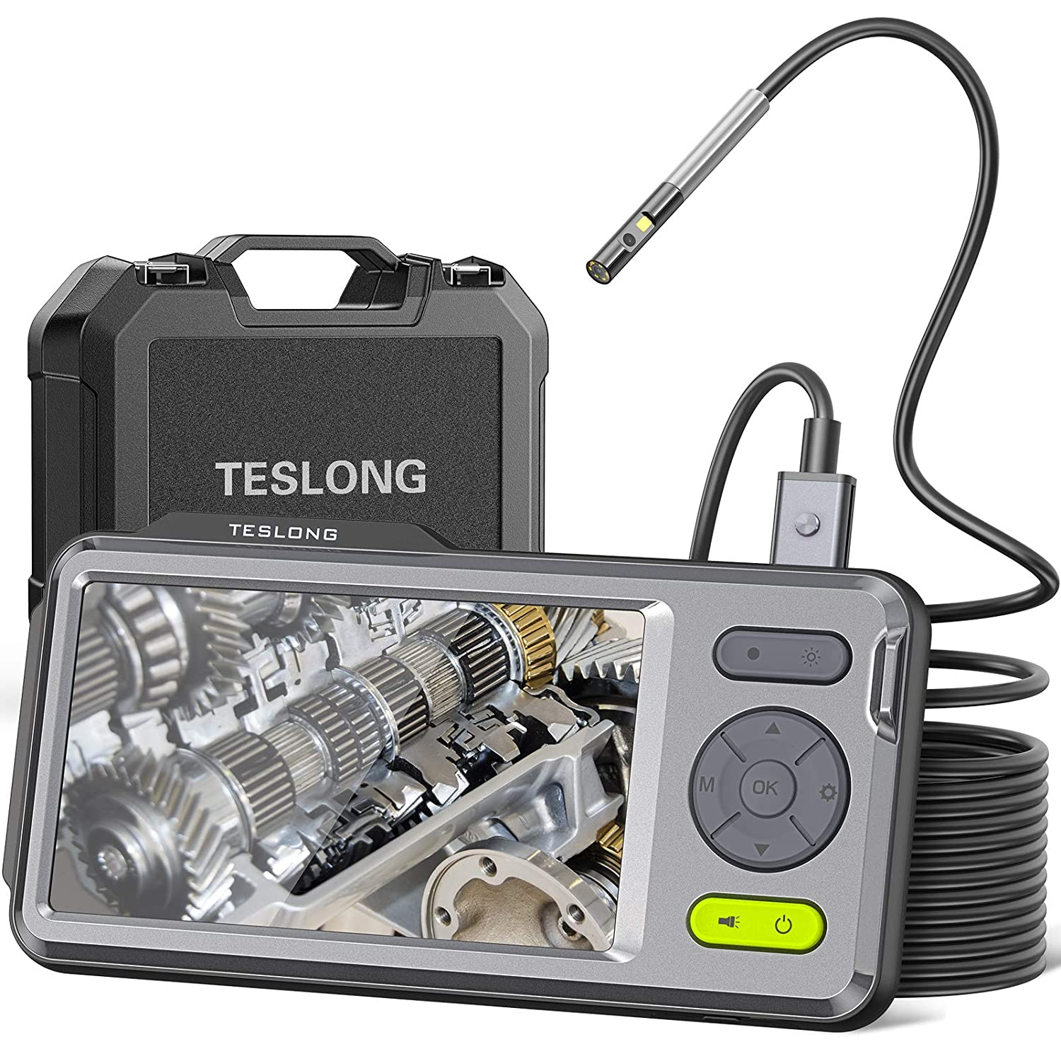 1080P Dual Camera Endoscope, Teslong Inspection Camera with 5