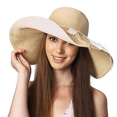 9d832754ca740 Image Unavailable. Image not available for. Color  Luxury Lane Women s Beige  Floppy Sun Hat ...