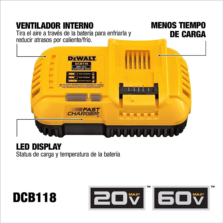 Dewalt DCB118 20V//60V Máximo 4//8 Amp Fan-Cooled Rápido Cargador Nuevo