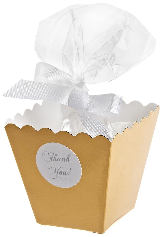 Amazon.com: Wilton 415-0521 Gold Popcorn Box Favor Kit, 50 Count ...