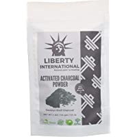 Liberty International Natural Activated Coconut Shell Charcoal Powder, For Skin Treatment, Instant Teeth Whitening & Face Wash (114G) Certified NT2411