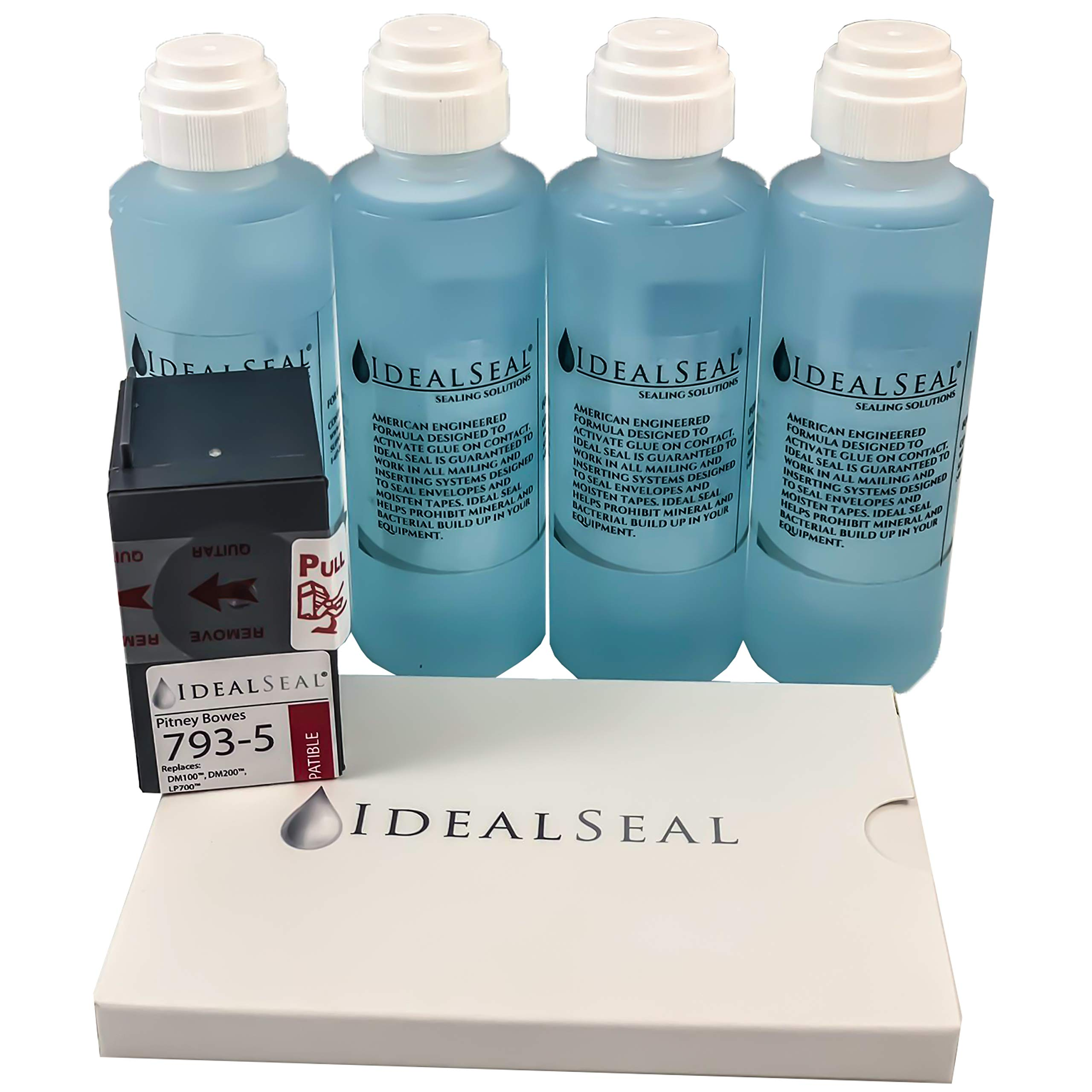 Preferred Postage Supplies Mailing Supply Pack, Contains 50 4 x 6 Postage Meter Tapes, One 793-5 Ink Cartridge & 4 oz Dabber Bottles of Sealing Solution by Preferred Postage Supplies