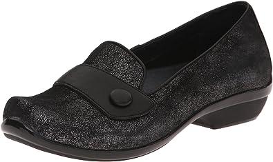 Dansko Olena Black Crackle Leather Dress Shoe