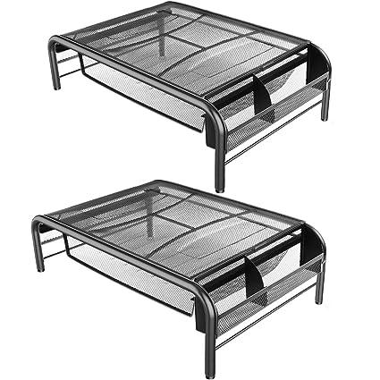 Soporte de malla de metal para monitor e impresora, con ...