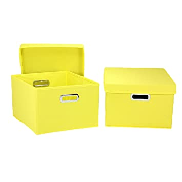 Superb Household Essentials Fabric Storage Boxes With Lids And Handles