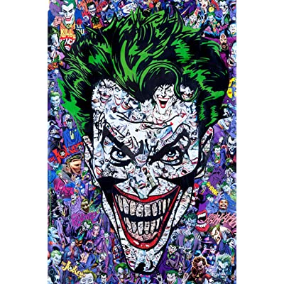 Kkxka Joker Collection Cartoon Puzzle Wooden Adults Funny Puzzle Interesting Puzzles Toys Puzzle Gifts(1000 Pieces): Toys & Games