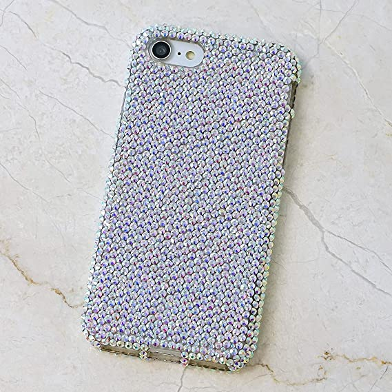 free shipping 0112c 324f4 iPhone 6S Bling Case, iPhone 6 Case - LUXADDICTION [Premium Quality]  Handmade Crystallized Bling Case Crystals Diamond Sparkle Authentic AB  Clear ...