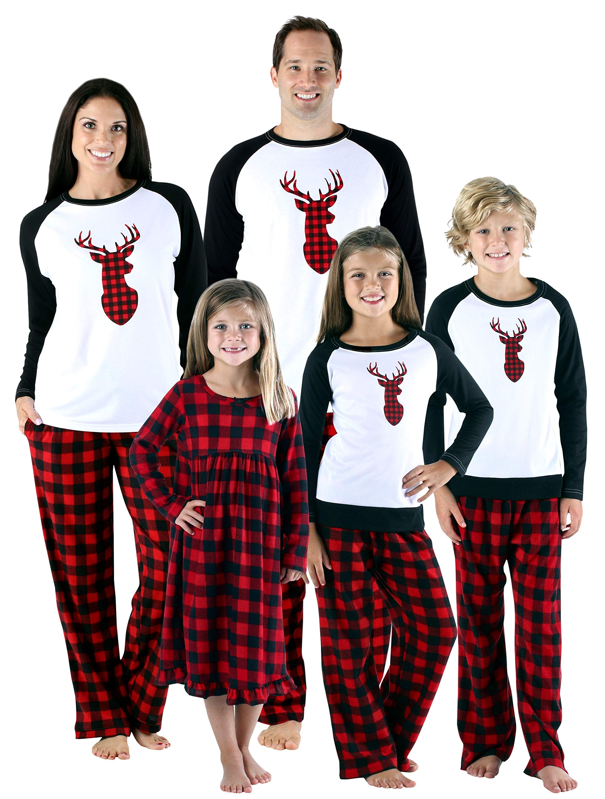 SleepytimePjs Holiday Family Matching Fleece Deer Plaid Pajama PJ Sets 94c0d73ca