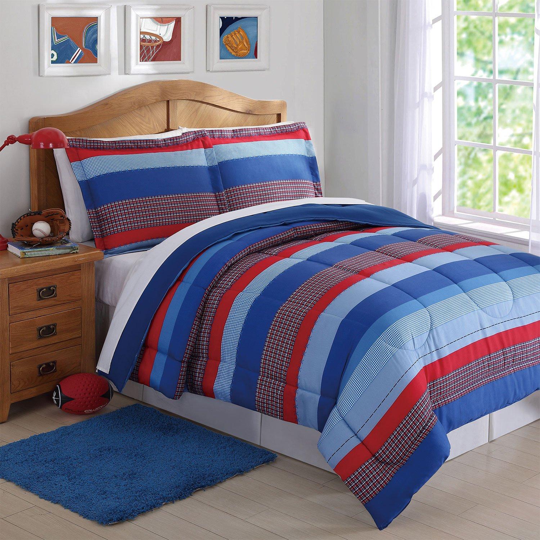 Laura Hart Kids Comforter Set (Sebastian Stripe, Twin)