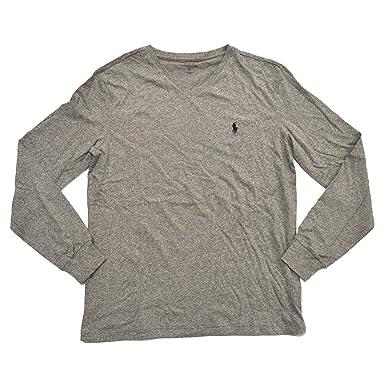 Polo Ralph Lauren V-neck T-shirt Mens Long Sleeve Classic Fit (L