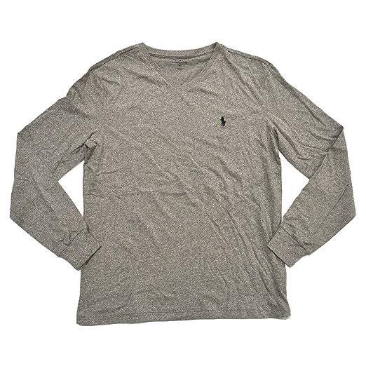 Polo Ralph Lauren V-neck T-shirt Mens Long Sleeve Classic Fit (L ... f8b57afd4b21