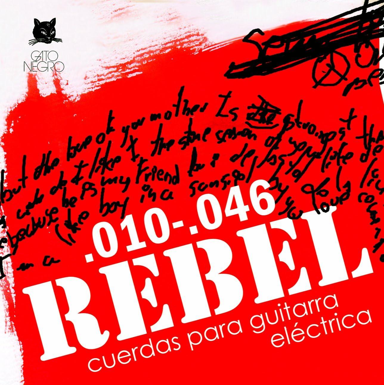 Juego de cuerdas para guitarra eléctrica Rebel by Gato Negro ...