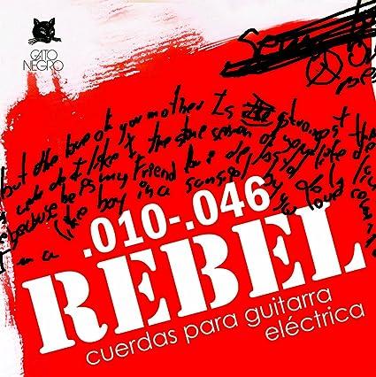 Juego de cuerdas para guitarra el/éctrica Rebel by Gato Negro