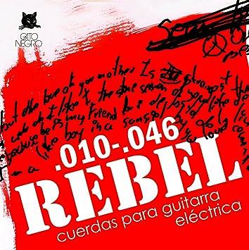 Juego de cuerdas para guitarra eléctrica Rebel by Gato Negro: Amazon.es: Instrumentos musicales