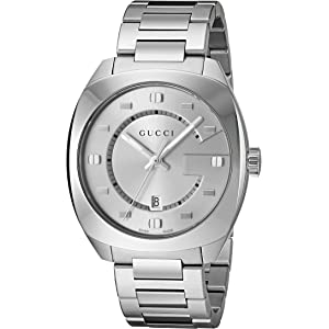 Gucci Swiss Quartz Stainless Steel Dress Watch, Color(Model: YA142308)