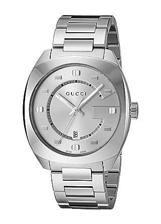 4460bdda41d Amazon.com  Gucci Swiss Quartz Stainless Steel Dress Watch
