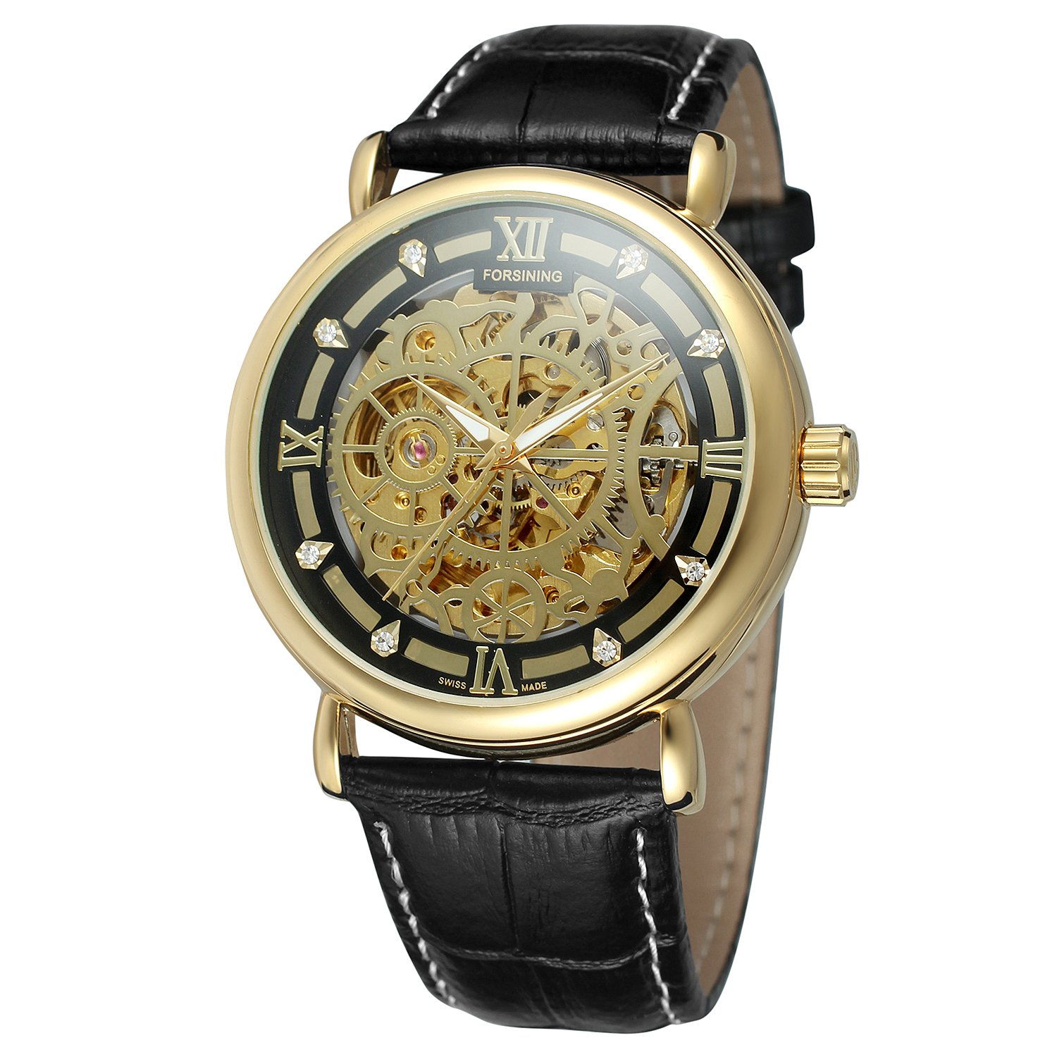 Amazon.com: FORSINING Mens Brand Watches Sports Fashion Skeleton Automatic Mechanical Watch Relogio Masculino Saat: Watches