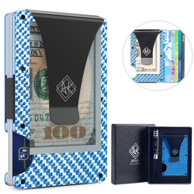 RFID Carbon Fiber Wallet| Slim Minimalist Wallet for Men & Women with Money Clip NOVAMIL