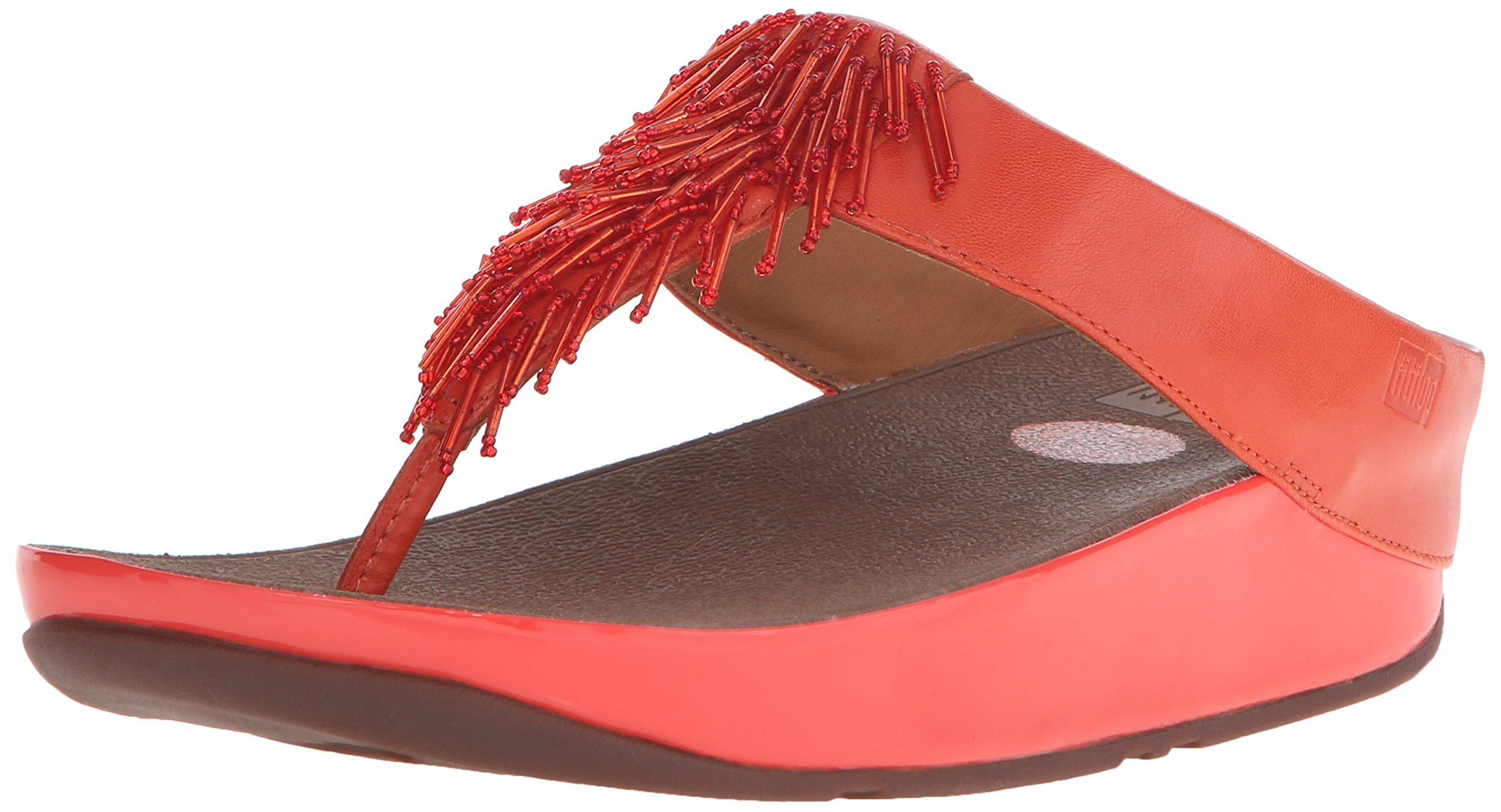 FitFlop Women's Cha Cha Flip Flop, Flame, 7 M US