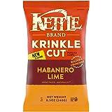 Kettle Brand Potato Chips, Krinkle Cut Habanero Lime Kettle Chips, 8.5 Oz