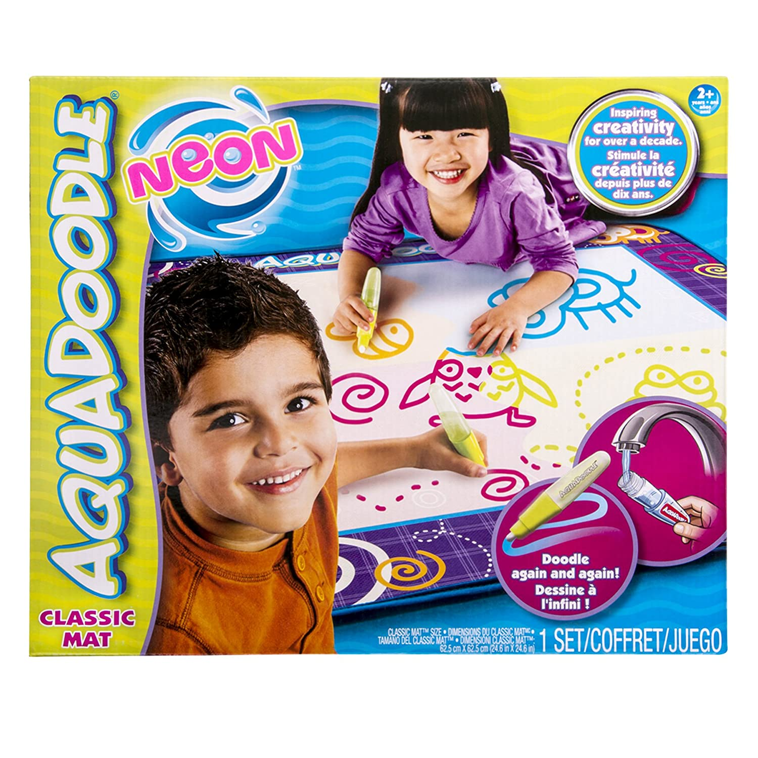 Amazon AquaDoodle Drawing Mat With Neon Color Reveal Toys Games