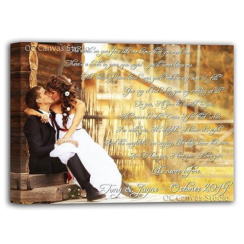 Amazoncom First Dance Lyrics Canvas Print Your Photo With Lyrics