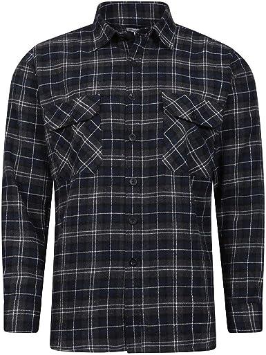 JACK NORTH Lumberjack - Camisa de trabajo informal de franela para hombre, 100% algodón