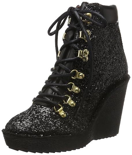Buffalo ES 30803 Glitter Grueso, Zapatillas de Estar por casa para Mujer, Negro (Preto 06), 39 EU: Amazon.es: Zapatos y complementos